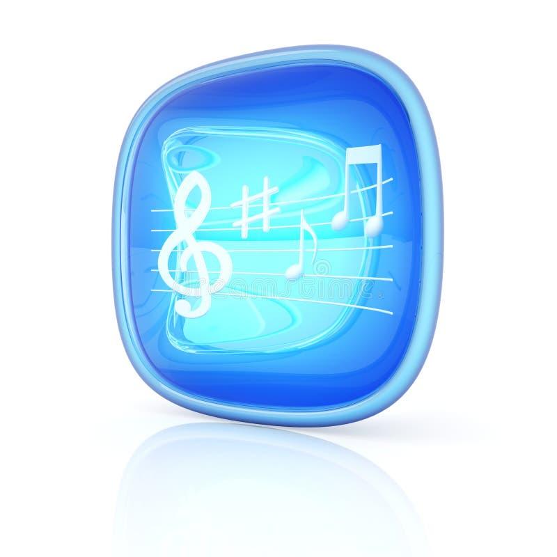 Icono 3d de la música stock de ilustración