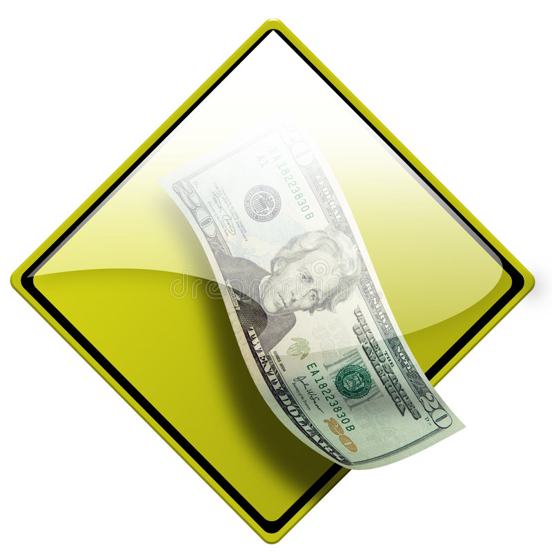 Icono 4 del dinero del efectivo foto de archivo