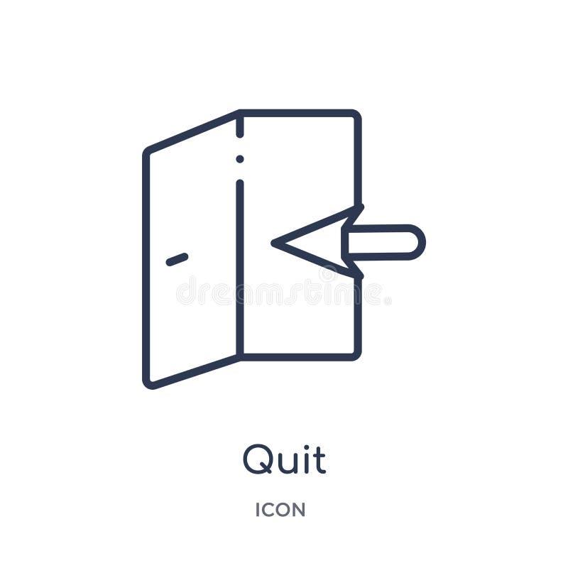 Icono abandonado linear de la colección del esquema del curriculum vitae del trabajo La línea fina abandonó el icono aislado en e libre illustration