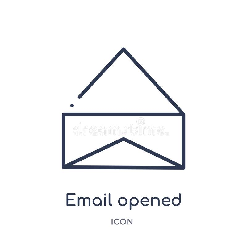 icono abierto correo electrónico del sobre de la colección del esquema de la interfaz de usuario La línea fina correo electrónico libre illustration