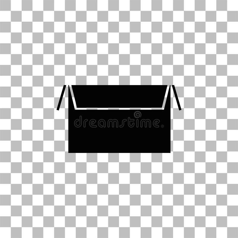 Icono abierto de la caja completamente libre illustration