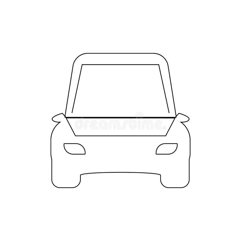 icono abierto del esquema del coche de la capilla Elementos del icono del ejemplo de la reparaci?n del coche Las muestras y los s stock de ilustración
