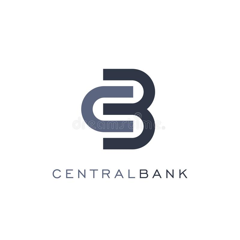 Icono abstracto de la cerradura, estilo linear, plantilla del logotipo del vector del banco Operaciones del intercambio y de las  stock de ilustración