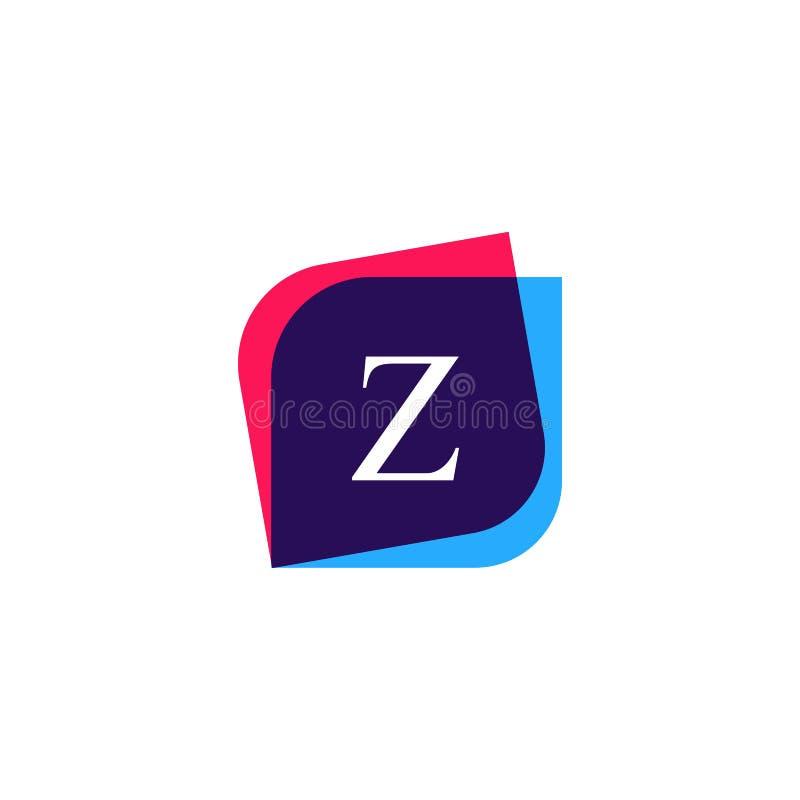 Icono abstracto de la compañía del logotipo de la letra de Z Salvado creativo del emblema del vector stock de ilustración