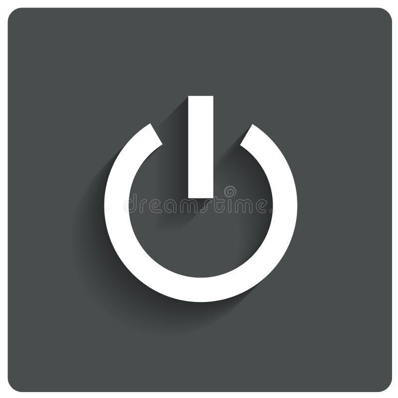 Icono abstracto del botón de encendido. Apague el símbolo. libre illustration