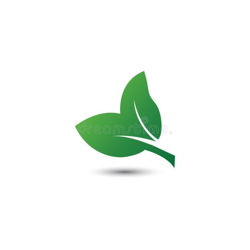 Icono abstracto del logotipo de la hoja stock de ilustración