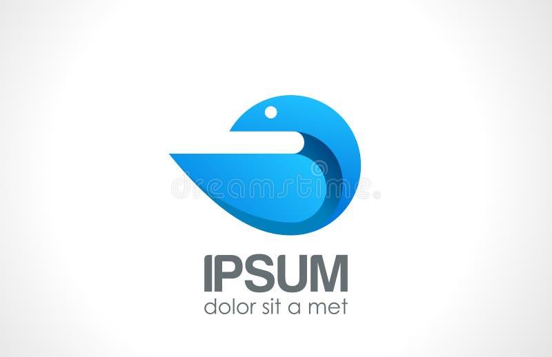 Icono del extracto del logotipo del pájaro. Estilo de moda. stock de ilustración
