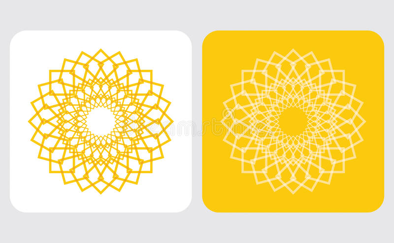 Icono abstracto del sol libre illustration