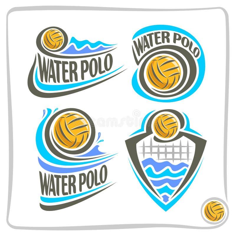 Icono abstracto del vector para el agua Polo Ball stock de ilustración