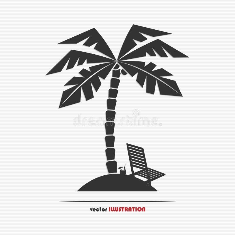 Icono abstracto del web de la isla desierta ilustración del vector