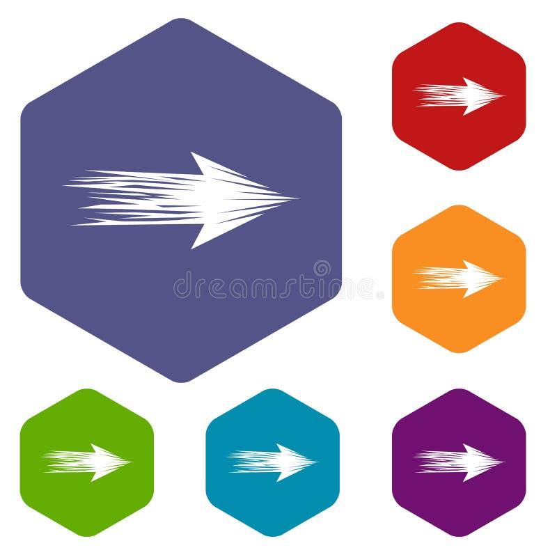 Icono abstracto linear de la flecha, estilo simple libre illustration