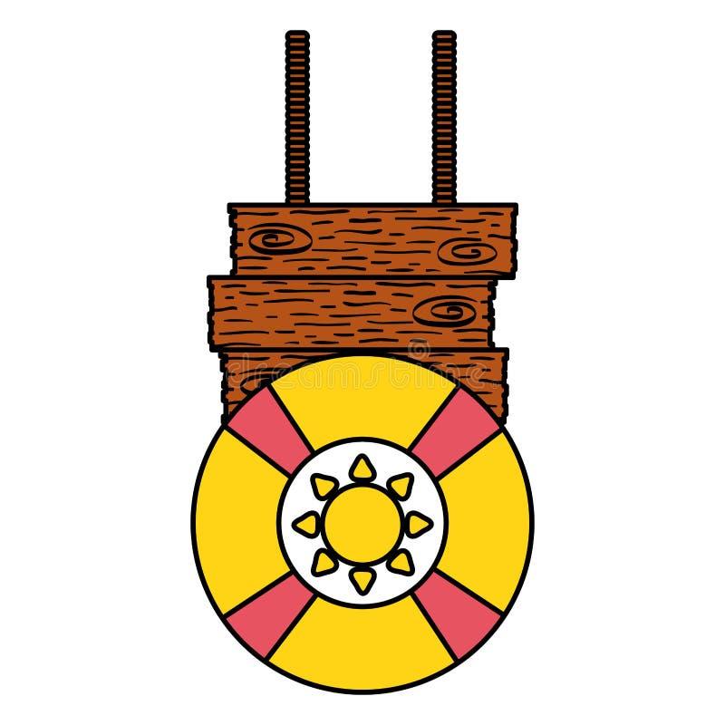 Icono accesorio del verano del salvavidas del flotador libre illustration