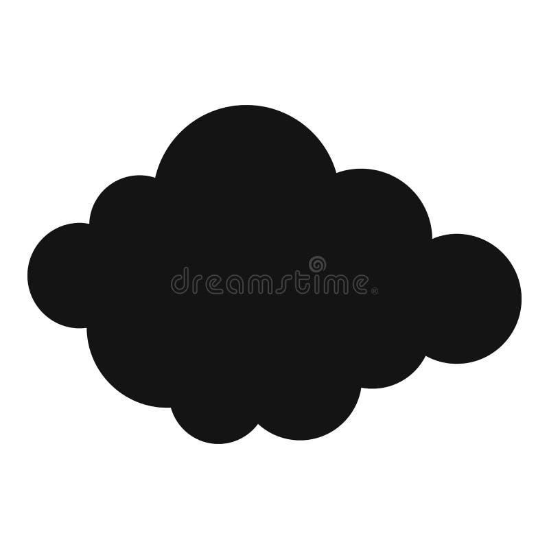 Icono acodado alto de la nube, estilo simple ilustración del vector