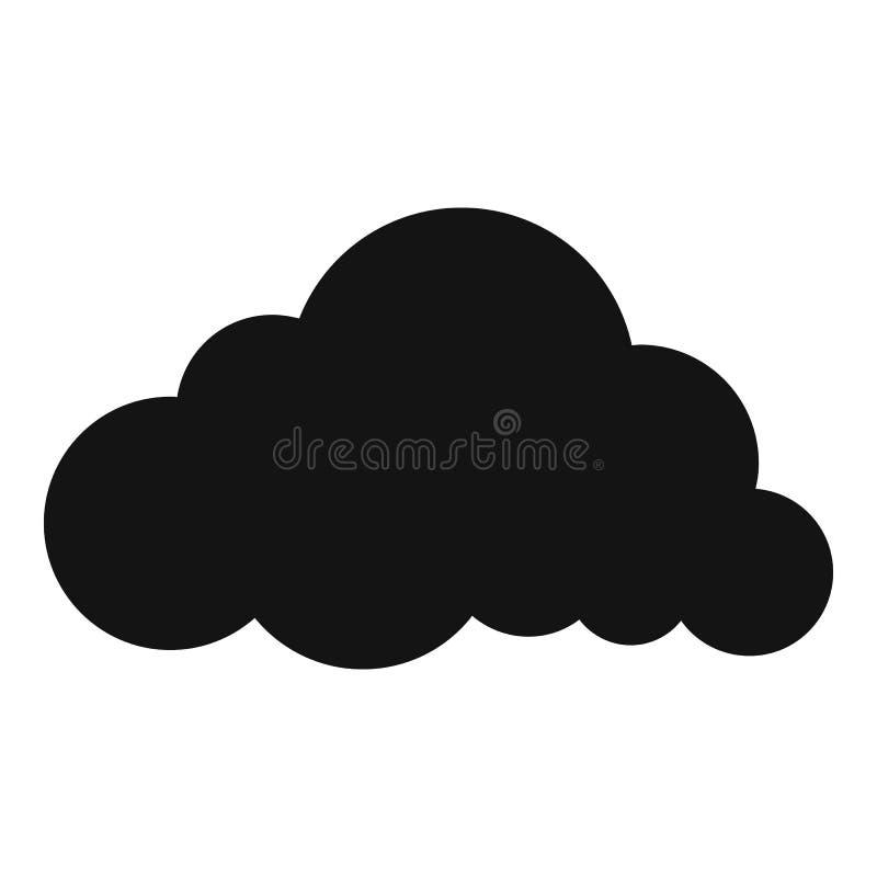 Icono acodado de la nube de lluvia, estilo simple ilustración del vector
