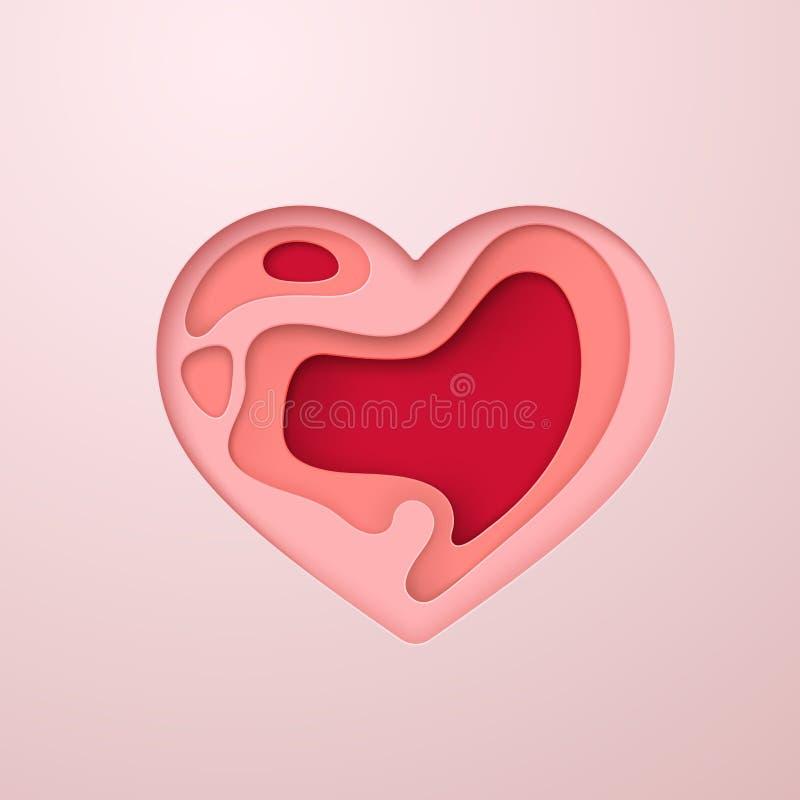 Icono acodado del corazón libre illustration