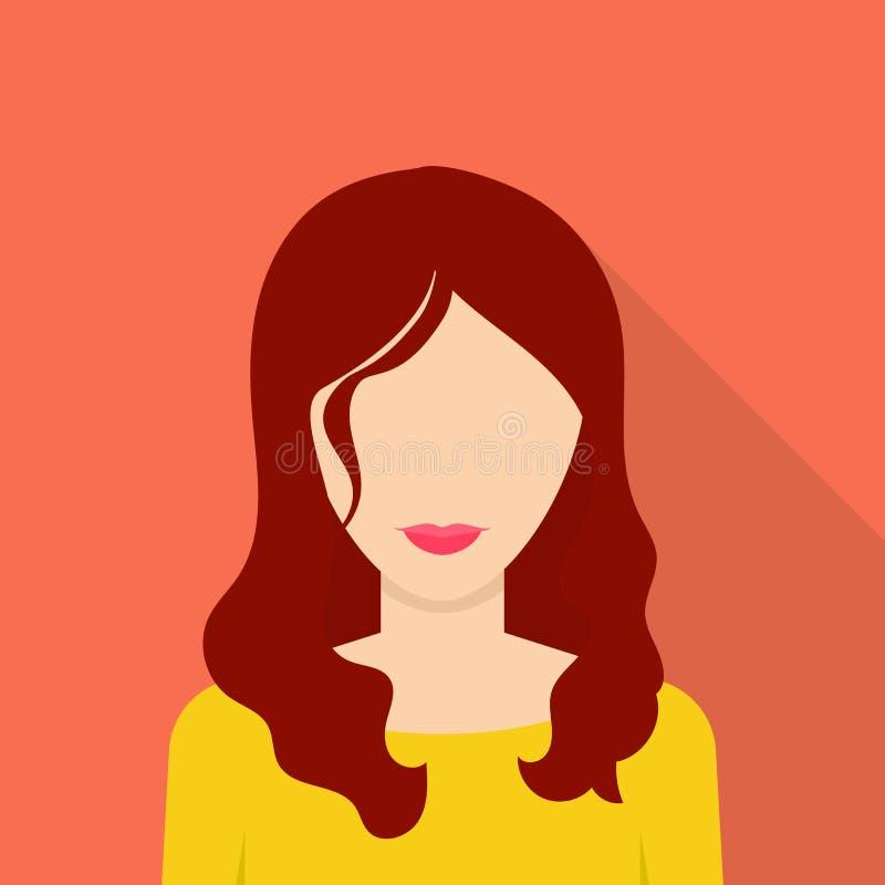 Icono agradable de la mujer, estilo plano libre illustration