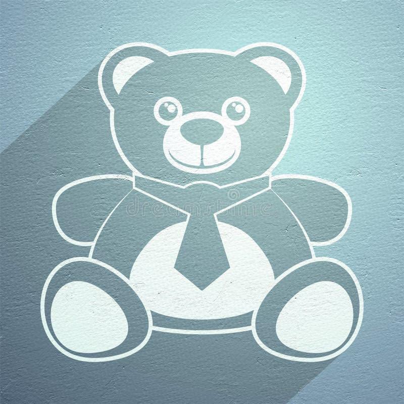 Icono agradable del oso libre illustration