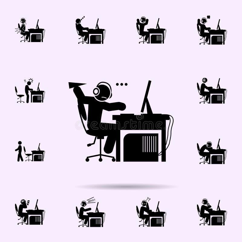 icono agujereado hombre sistema universal de los iconos del videojugador para la web y el m?vil stock de ilustración