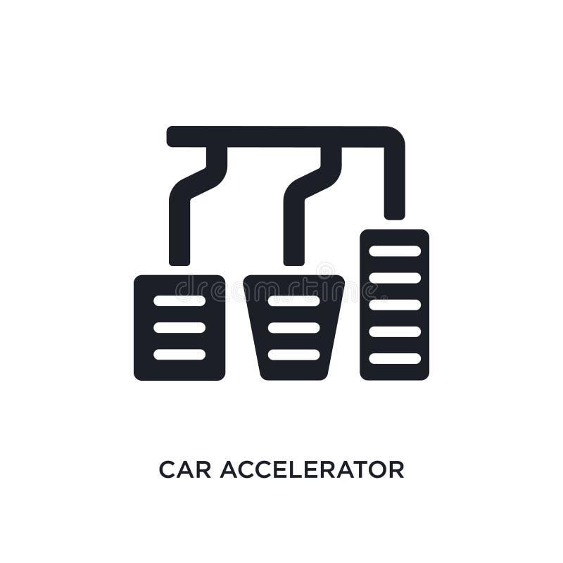 icono aislado acelerador del coche ejemplo simple del elemento de iconos del concepto de las piezas del coche símbolo editable de ilustración del vector