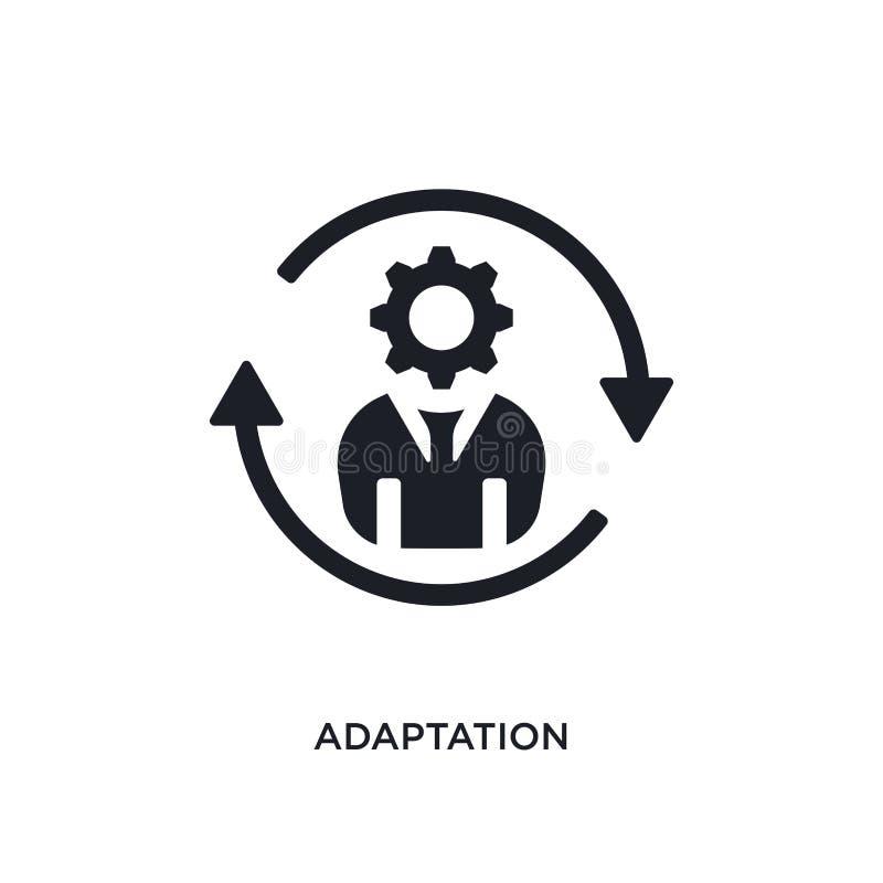 icono aislado adaptación negra del vector ejemplo simple del elemento de iconos de lanzamiento del vector del concepto logotipo e stock de ilustración