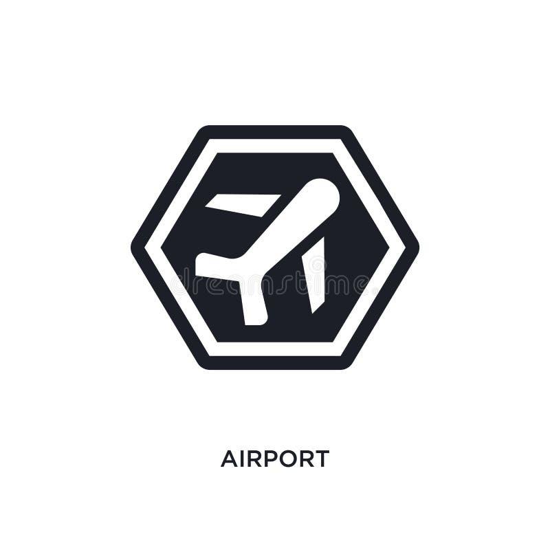 icono aislado aeropuerto ejemplo simple del elemento de iconos del concepto de las muestras diseño editable del símbolo de la mue stock de ilustración