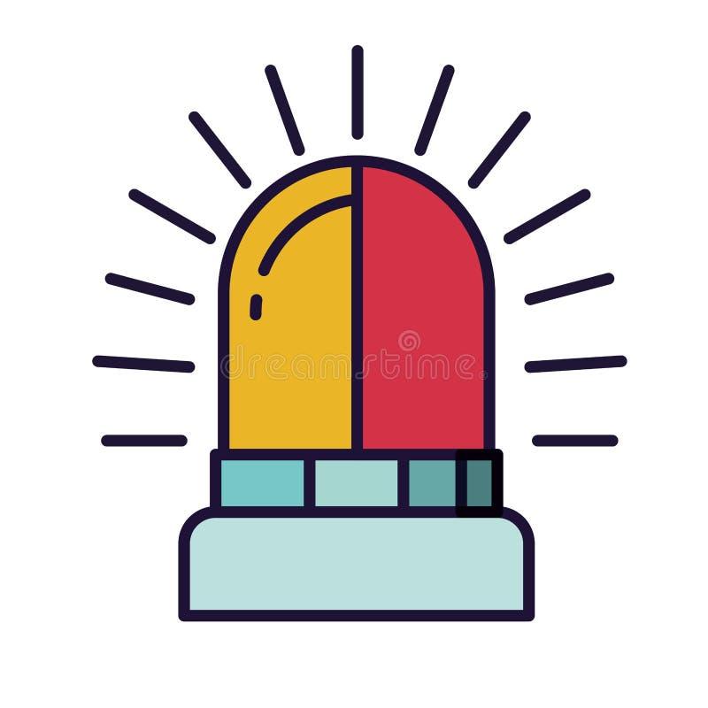 Icono aislado alarma del Lit ilustración del vector