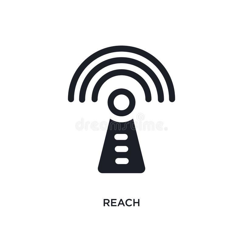 icono aislado alcance ejemplo simple del elemento de iconos del concepto de la tecnología diseño editable del símbolo de la muest ilustración del vector