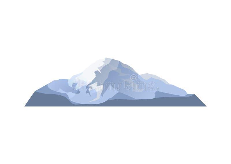 Icono aislado alto glaciar del vector ilustración del vector