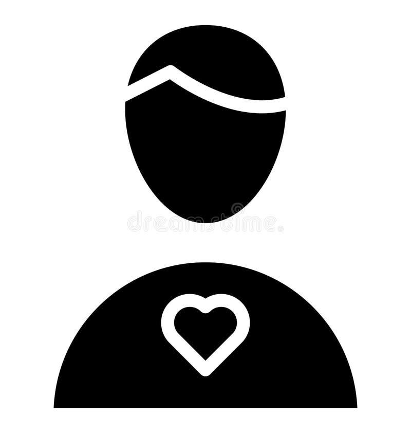 Icono aislado amante del vector que puede ser modificado o corregir f?cilmente ilustración del vector