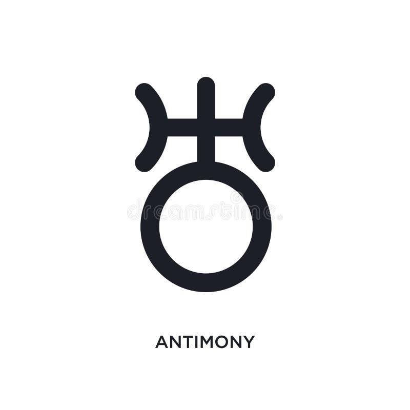 icono aislado antimonio ejemplo simple del elemento de iconos del concepto del zodiaco diseño editable del símbolo de la muestra  libre illustration