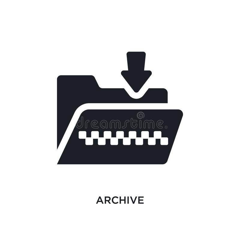 icono aislado archivo ejemplo simple del elemento de iconos del concepto de programación diseño editable del símbolo de la muestr stock de ilustración