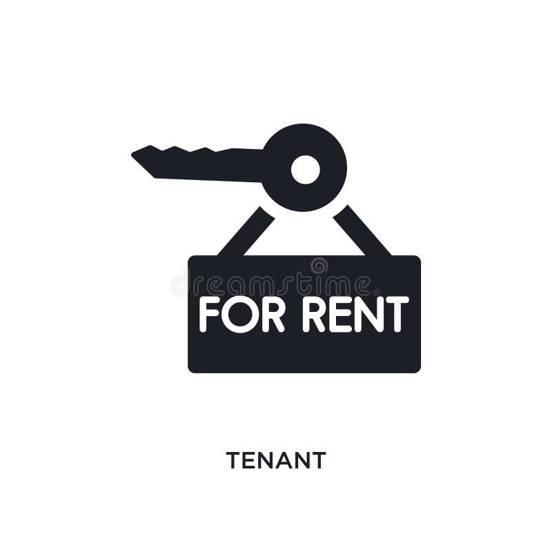 icono aislado arrendatario ejemplo simple del elemento de iconos del concepto de las propiedades inmobiliarias diseño editable de ilustración del vector