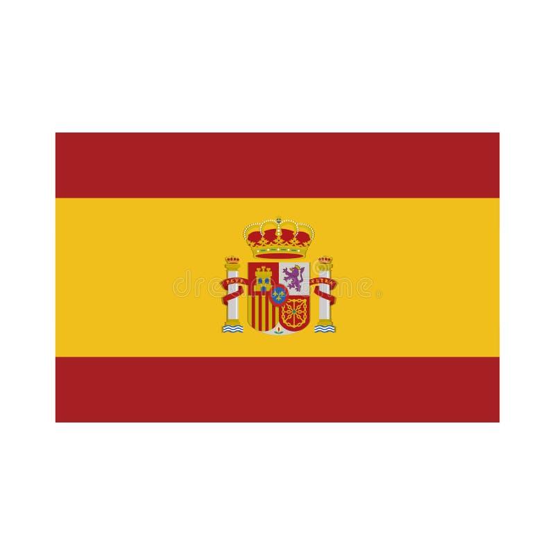 Icono aislado bandera de España ilustración del vector