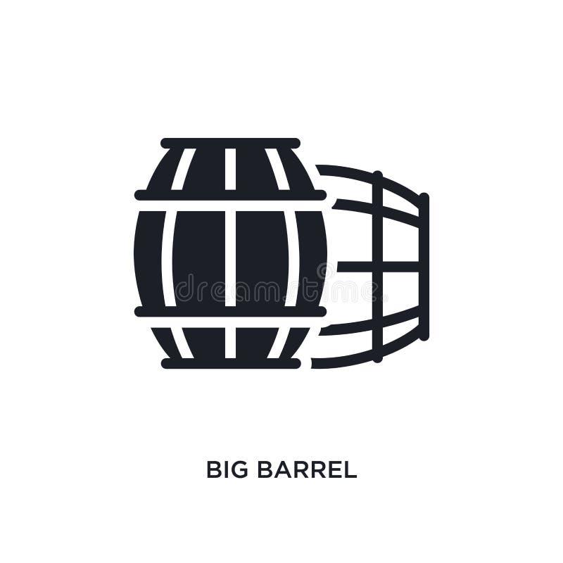 icono aislado barril grande ejemplo simple del elemento de iconos náuticos del concepto diseño editable del símbolo de la muestra ilustración del vector