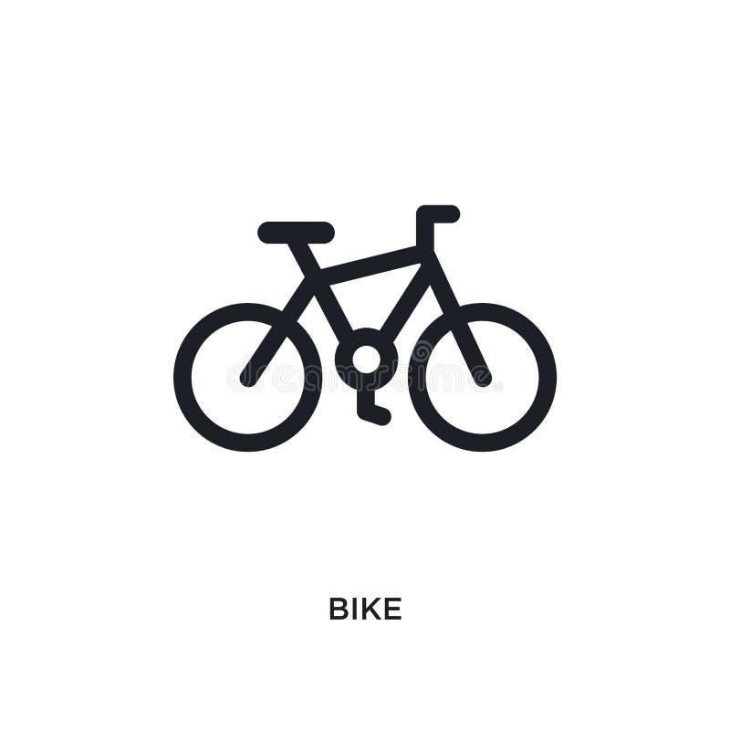icono aislado bici negra del vector ejemplo simple del elemento de iconos del vector del concepto del viaje diseño editable del s ilustración del vector