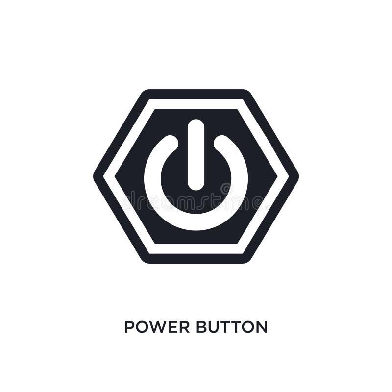 icono aislado botón de encendido ejemplo simple del elemento de iconos del concepto de las muestras diseño editable del símbolo d libre illustration