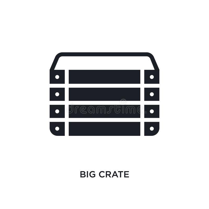icono aislado cajón grande ejemplo simple del elemento de iconos náuticos del concepto diseño editable del símbolo de la muestra  libre illustration