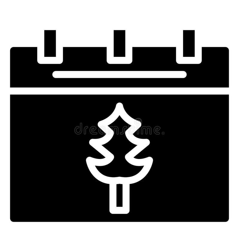 Icono aislado calendario del vector que puede ser modificado o corregir fácilmente en cualquier icono aislado calendario del vect ilustración del vector