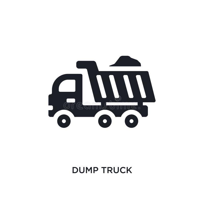Icono aislado camión volquete ejemplo simple del elemento de iconos del concepto de la construcción diseño editable del símbolo d ilustración del vector