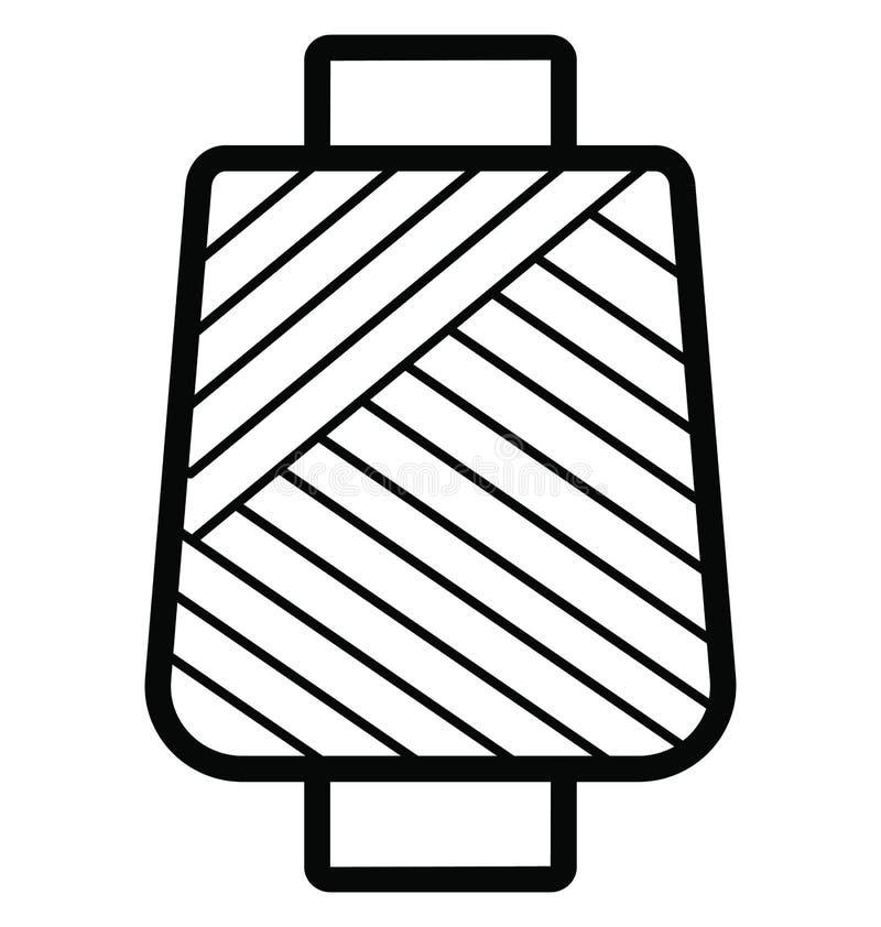 Icono aislado carrete del vector del hilo para coser y adaptar ilustración del vector