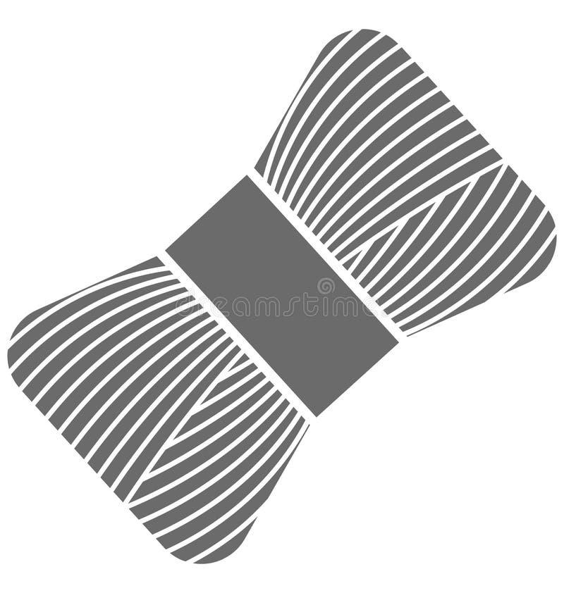 Icono aislado carrete del vector del hilo para coser y adaptar stock de ilustración