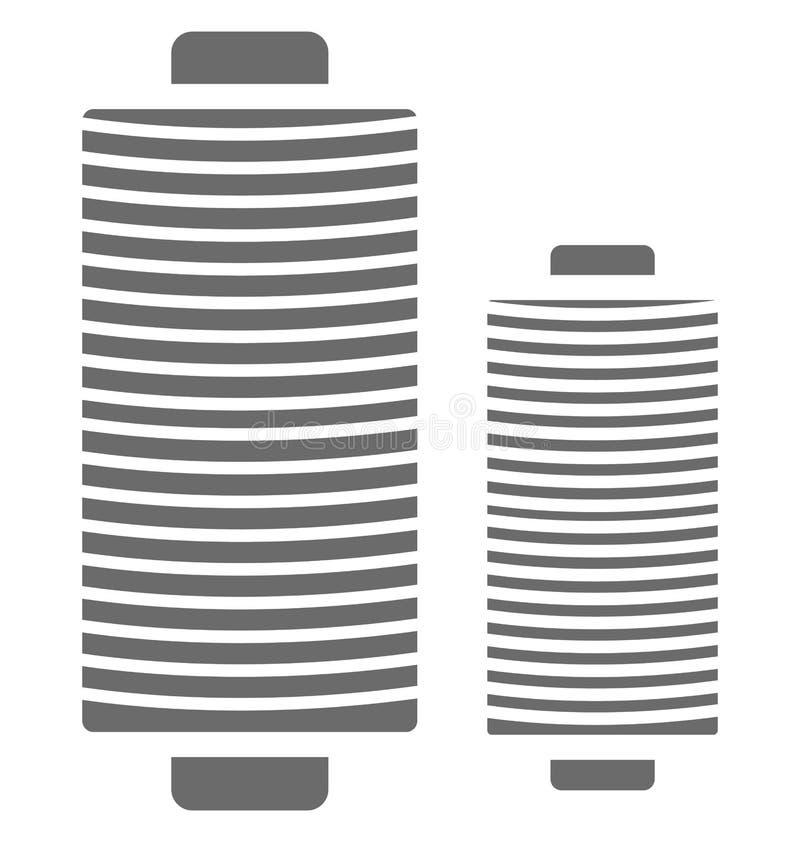 Icono aislado carrete del vector del hilo para coser y adaptar libre illustration