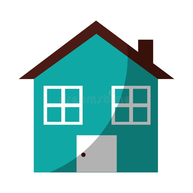 Icono aislado casa casera stock de ilustración