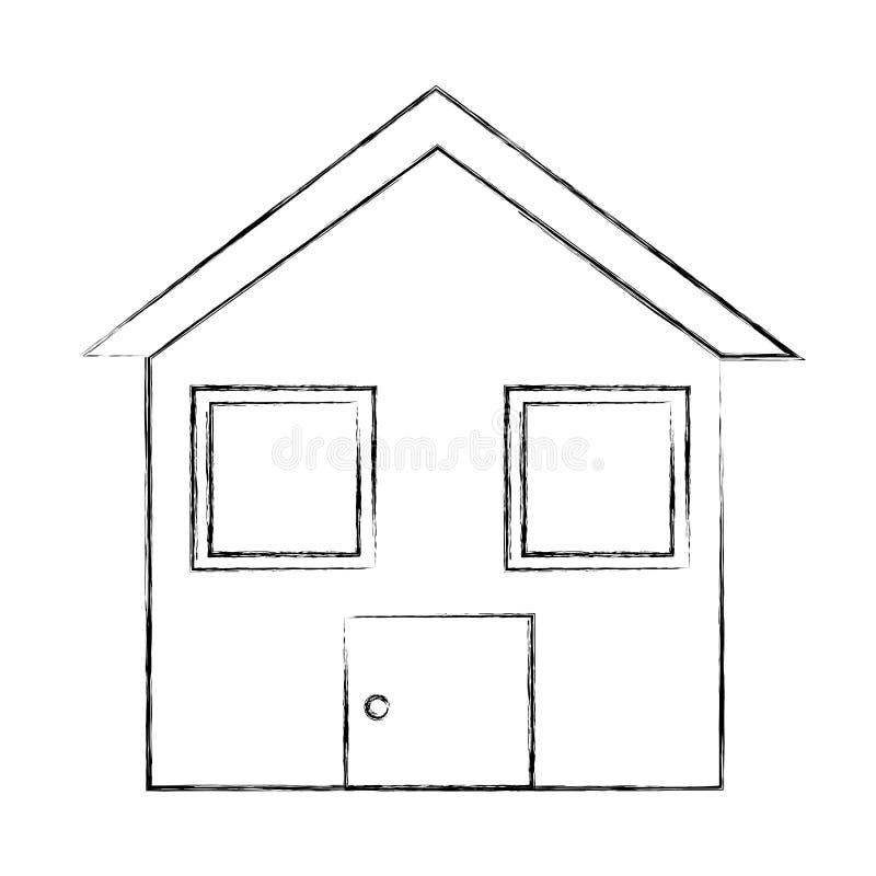Icono aislado casa casera ilustración del vector