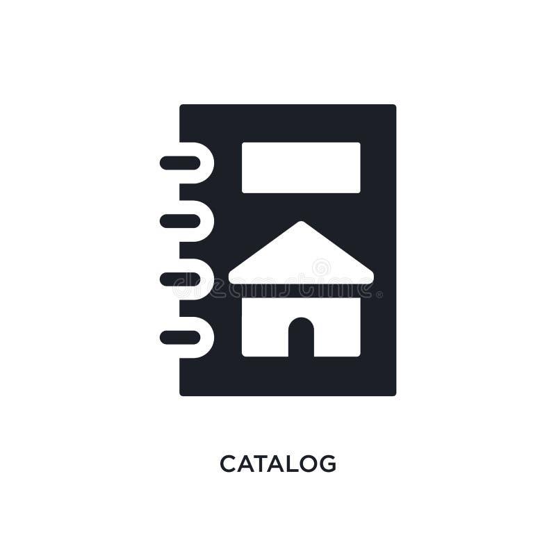 icono aislado catálogo ejemplo simple del elemento de iconos del concepto de las propiedades inmobiliarias diseño editable del sí ilustración del vector