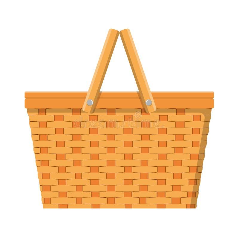 Icono aislado cesta de la comida campestre stock de ilustración