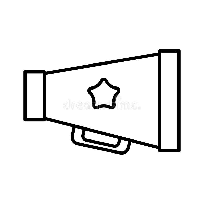 Icono aislado cine del megáfono stock de ilustración