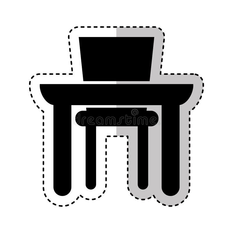 Icono aislado comida de la tabla libre illustration
