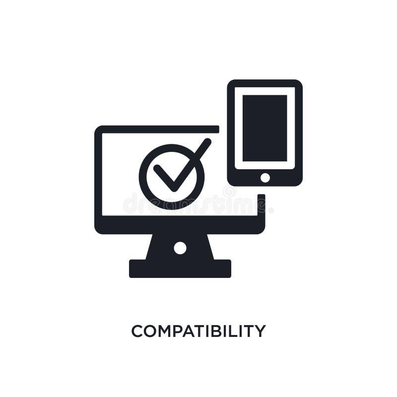 icono aislado compatibilidad ejemplo simple del elemento de iconos del concepto general-1 símbolo editable de la muestra del logo libre illustration