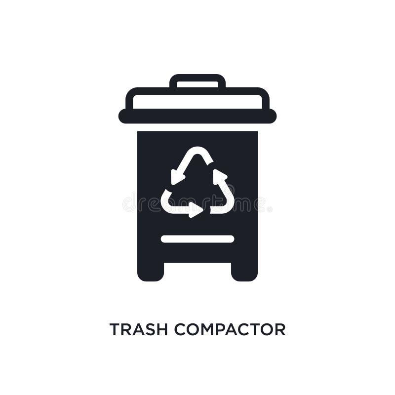 icono aislado compresor de la basura ejemplo simple del elemento de iconos del concepto de los dispositivos electrónicos logotipo stock de ilustración